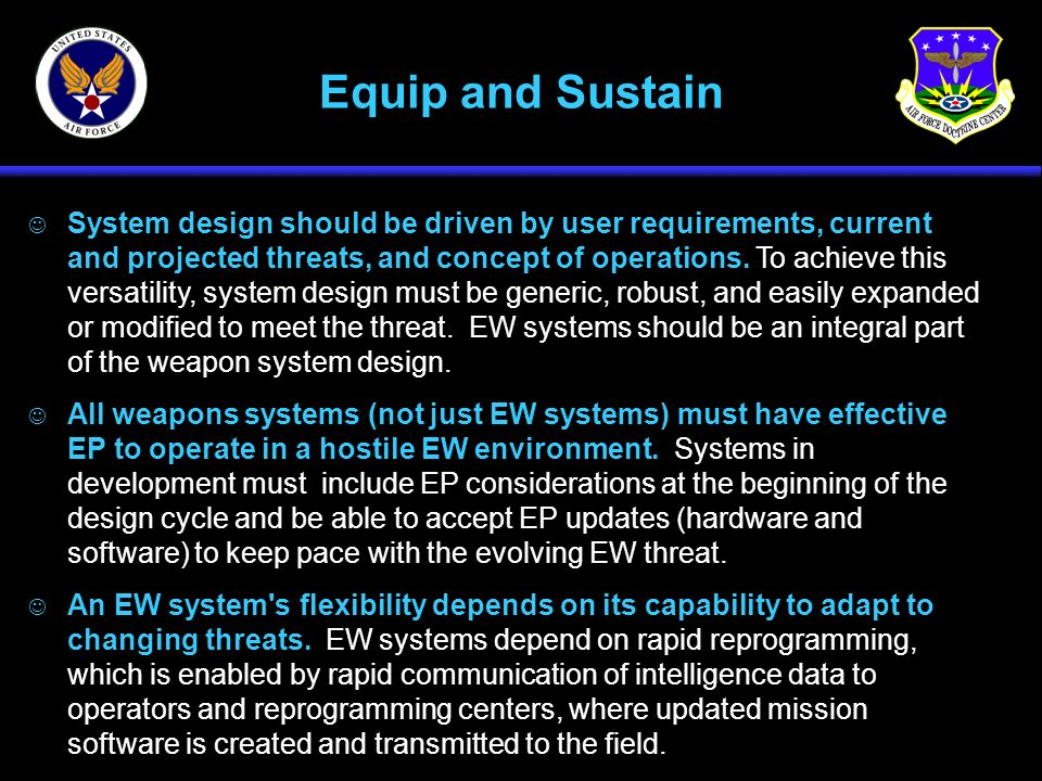 Equip and Sustain