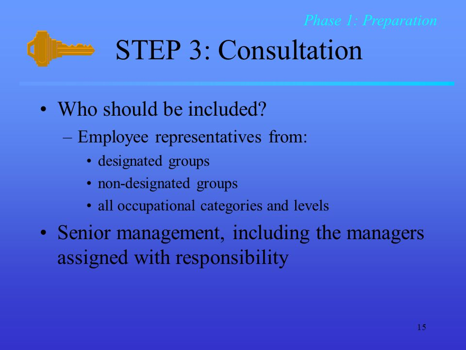 STEP 3: Consultation Who should be included