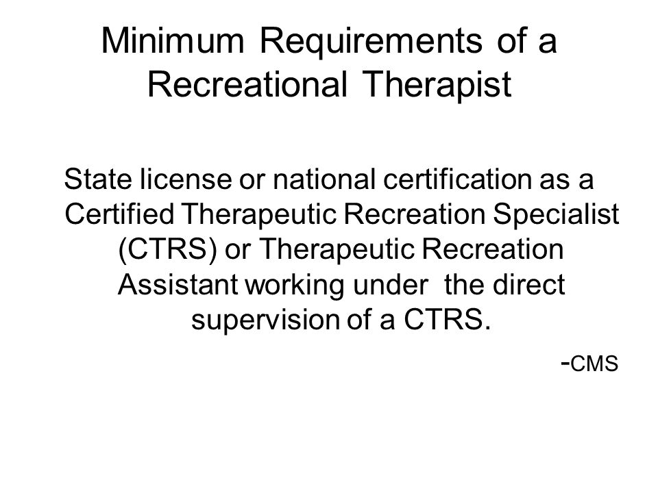 Making The Transition From Activities To Recreational Therapy And