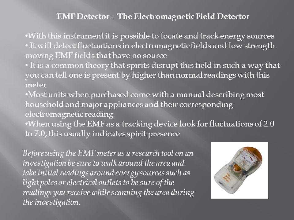EMF Detector - The Electromagnetic Field Detector