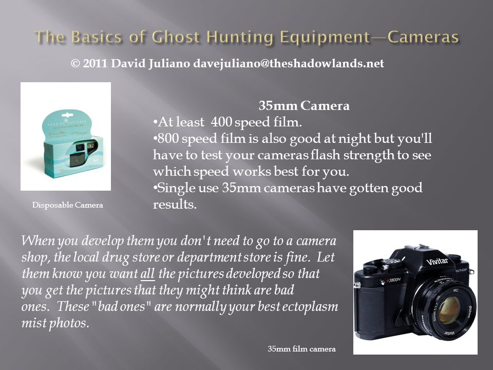 The Basics of Ghost Hunting Equipment—Cameras