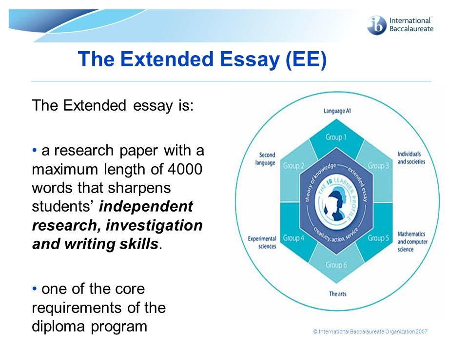 The Extended Essay (EE)