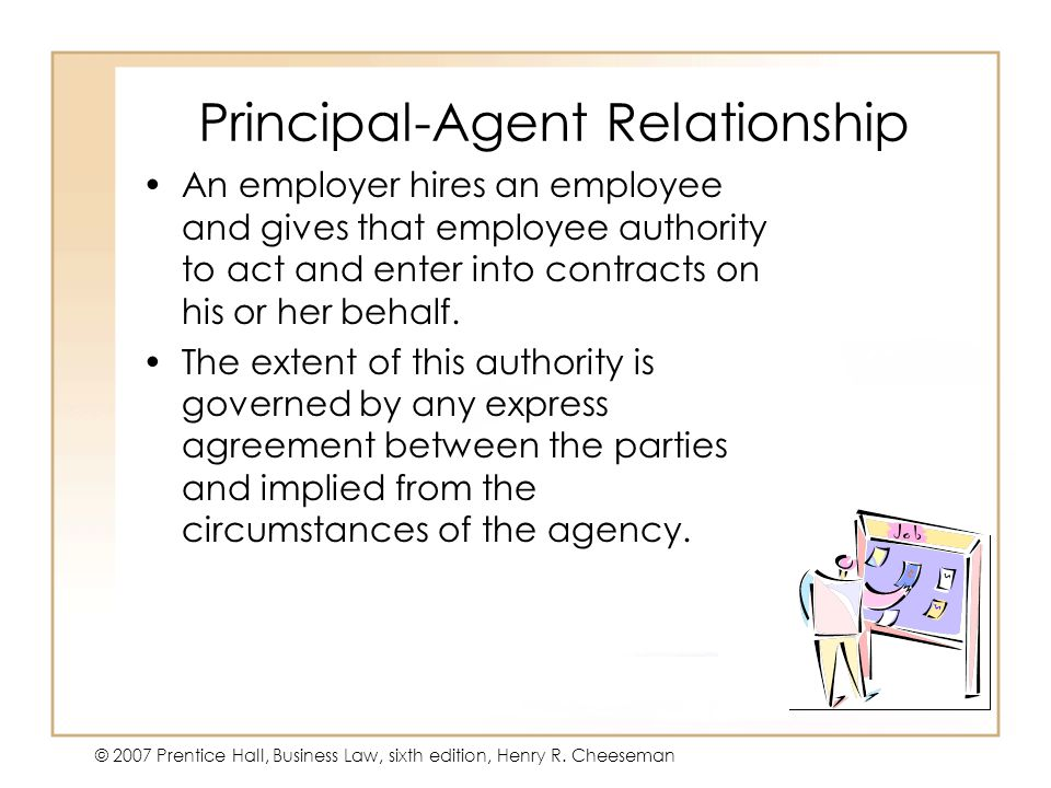 relationship between principal and sub agent