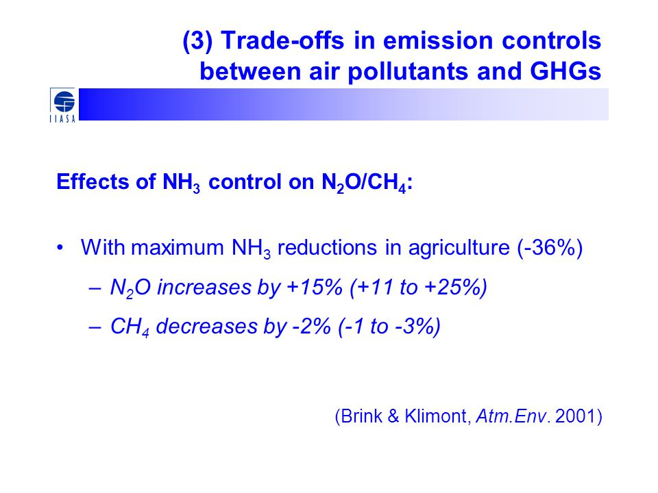 (3) Trade-offs in emission controls between air pollutants and GHGs