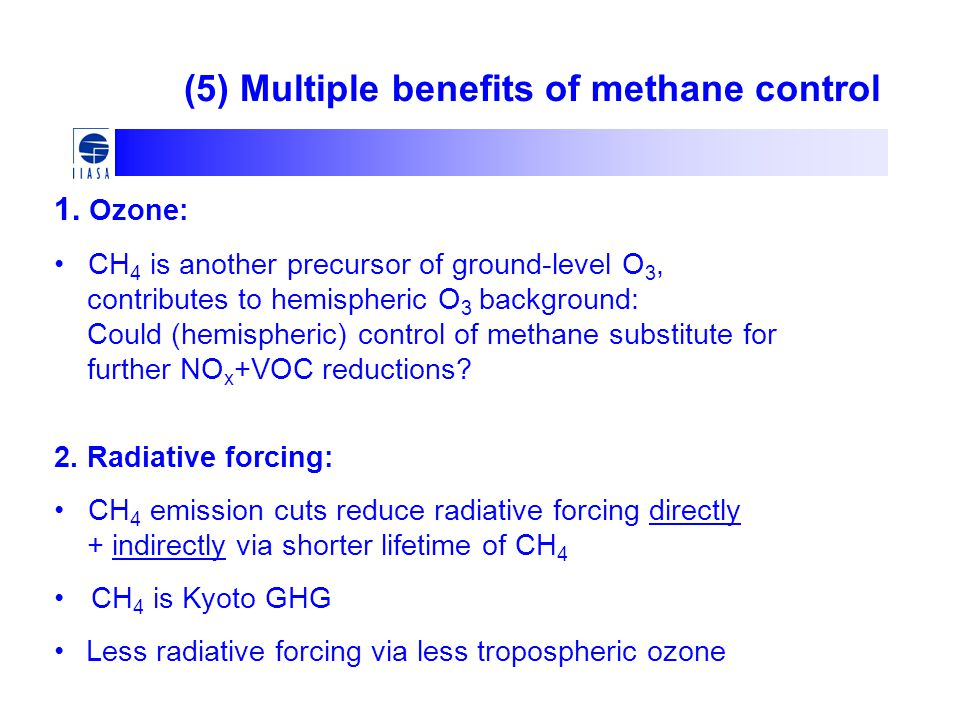 (5) Multiple benefits of methane control