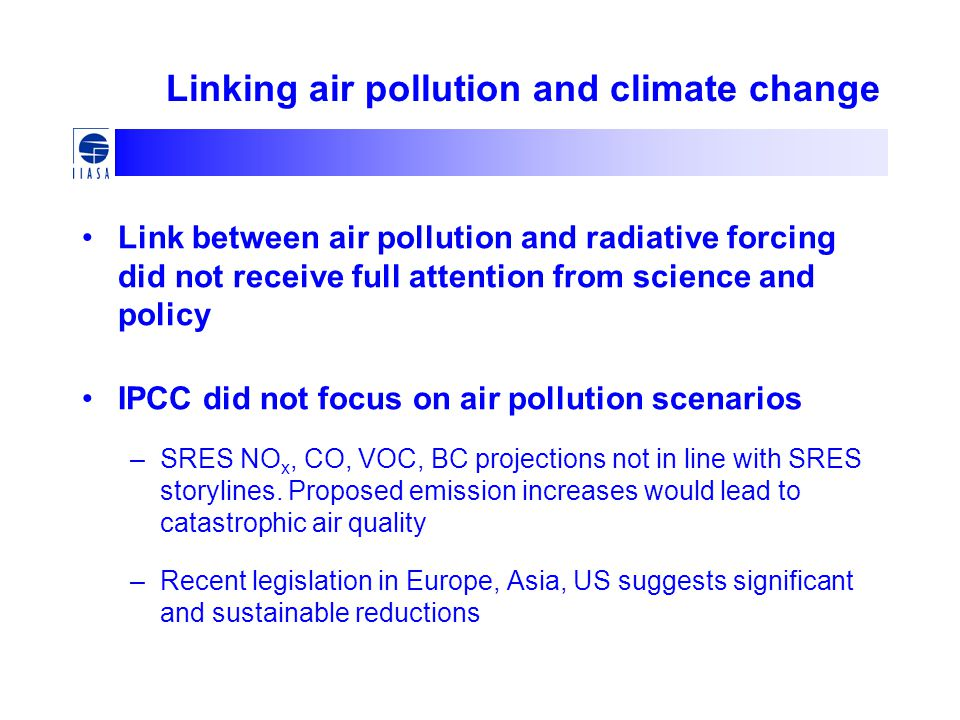 Linking air pollution and climate change