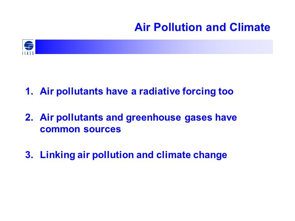 Air Pollution and Climate