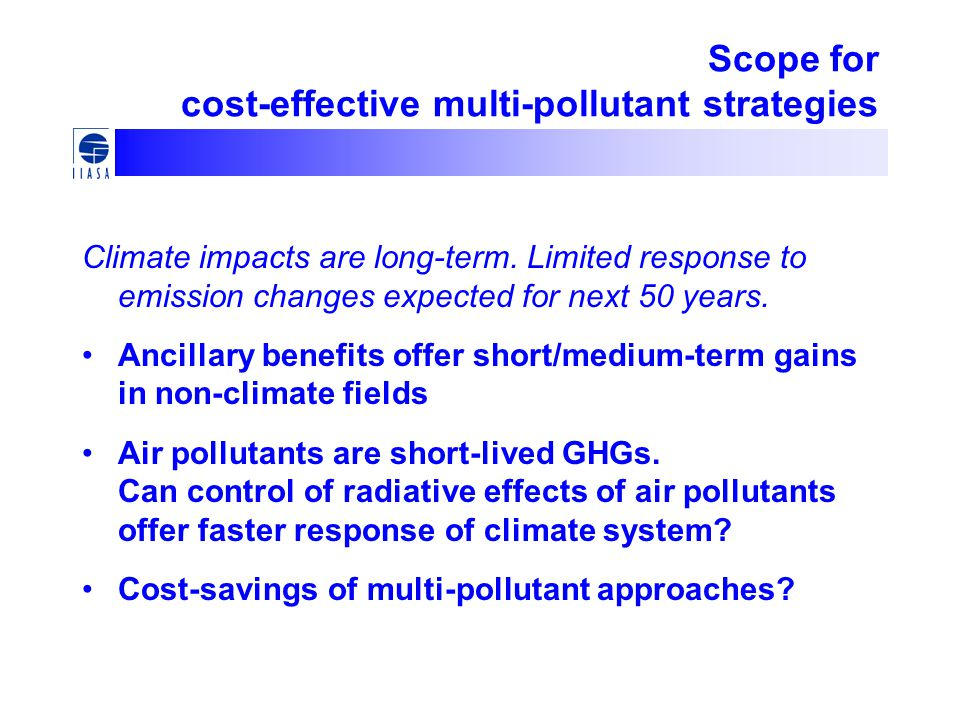 Scope for cost-effective multi-pollutant strategies