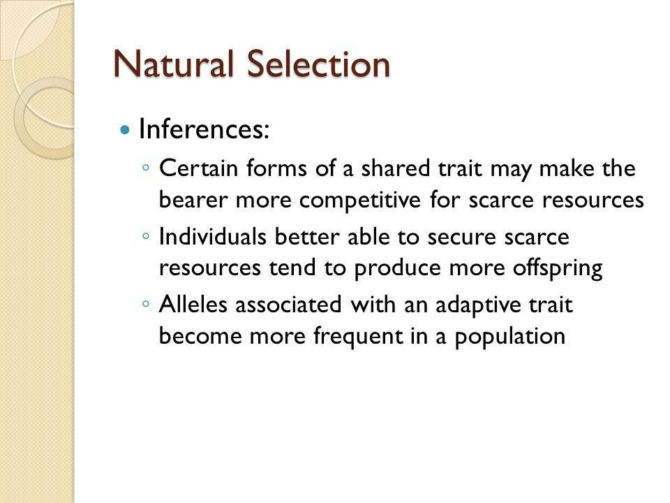 Natural Selection Inferences: