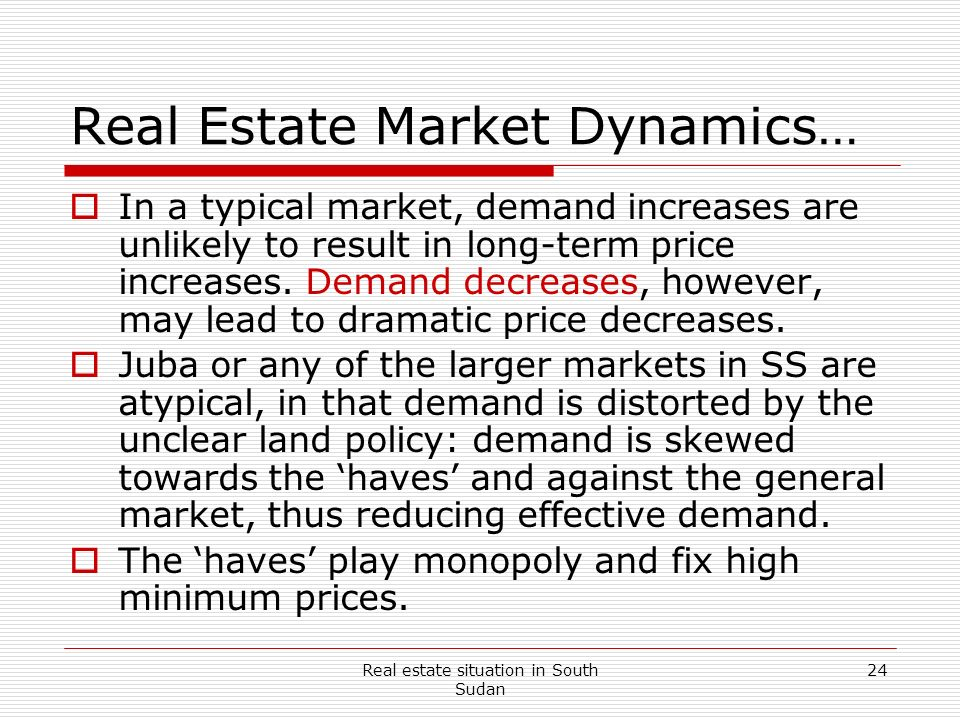 Real Estate Market Dynamics…