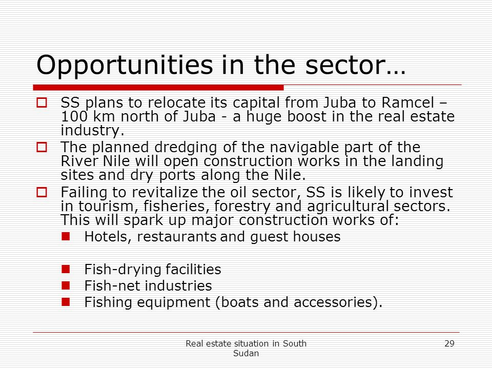 Opportunities in the sector…