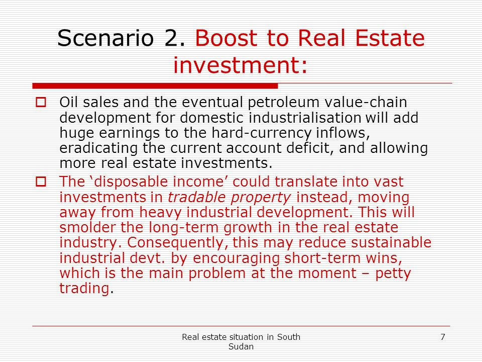 Scenario 2. Boost to Real Estate investment: