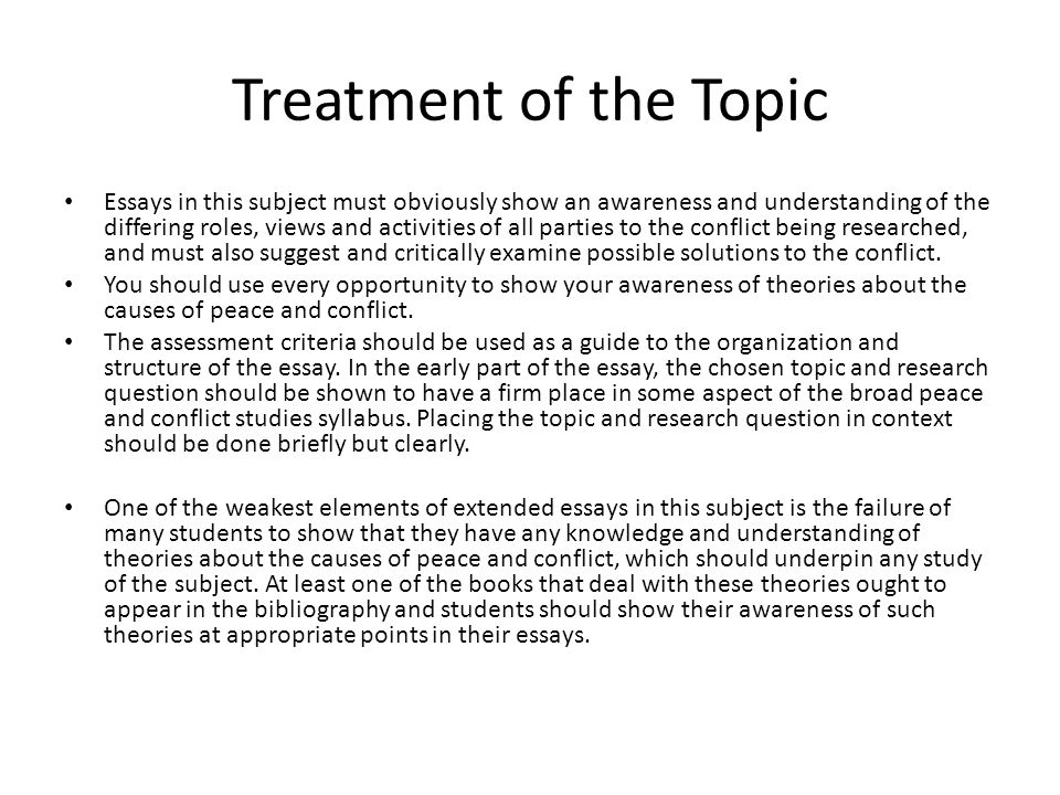 Health Education Essay  Treatment Of The Topic Essays  Essays About Health Care also Persuasive Essay Thesis Examples Writing An Extended Essay In Peace And Conflict Studies  Ppt Video  Personal Narrative Essay Examples High School