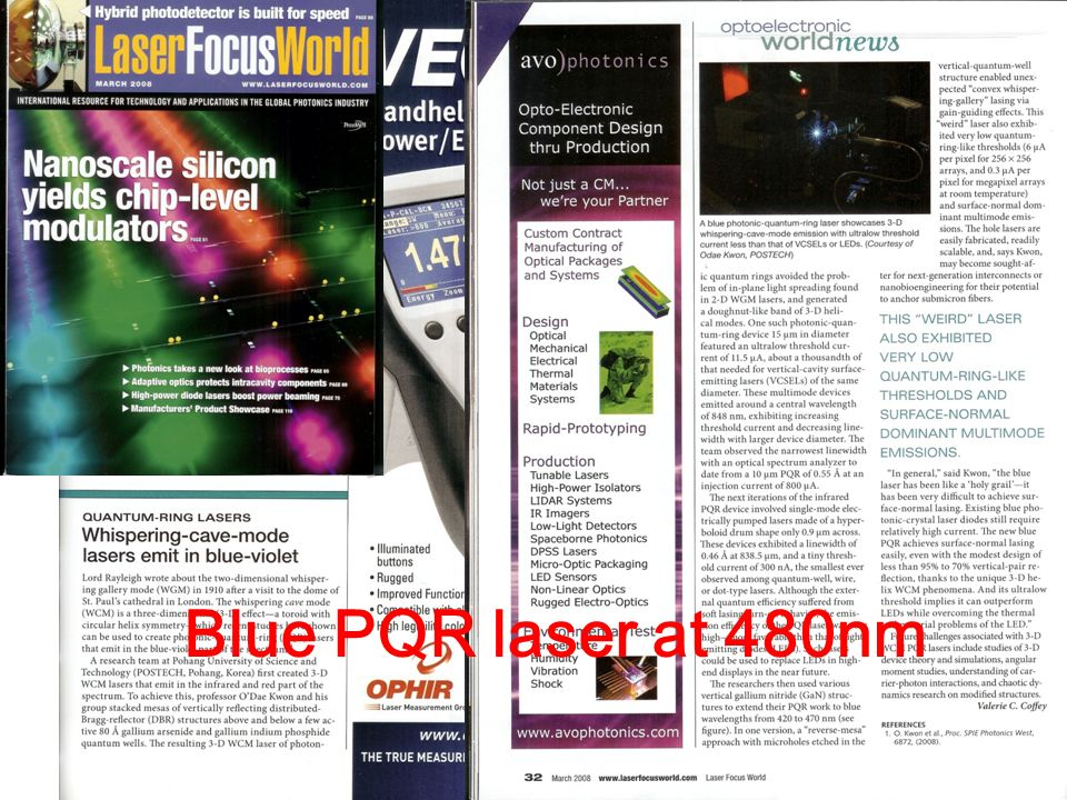 Blue PQR laser at 480nm