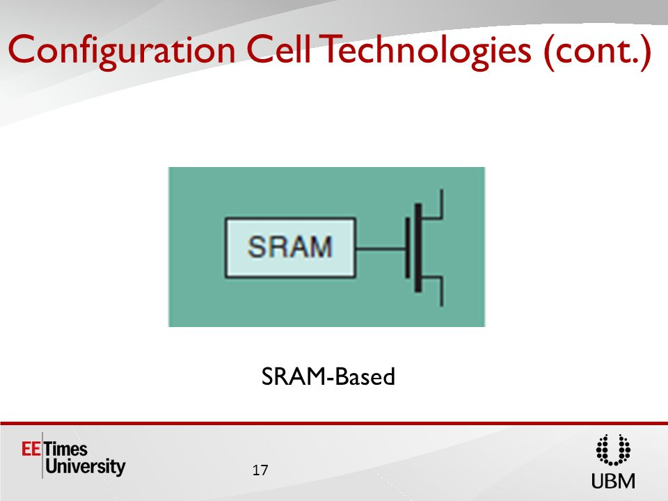 Configuration Cell Technologies (cont.)