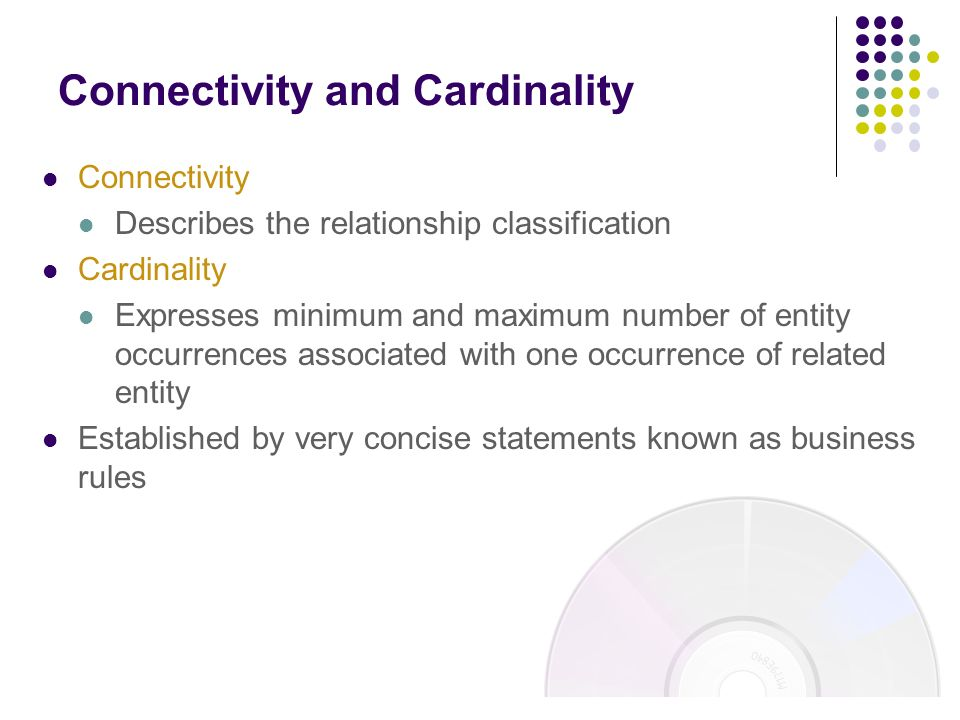 Connectivity and Cardinality