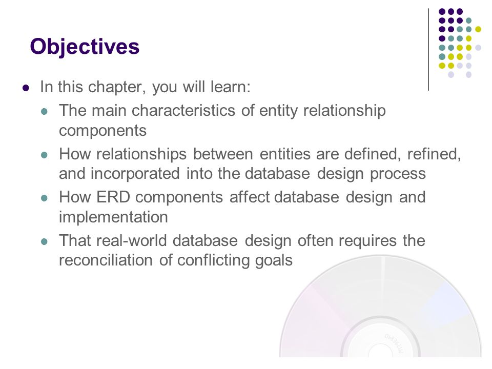 Objectives In this chapter, you will learn:
