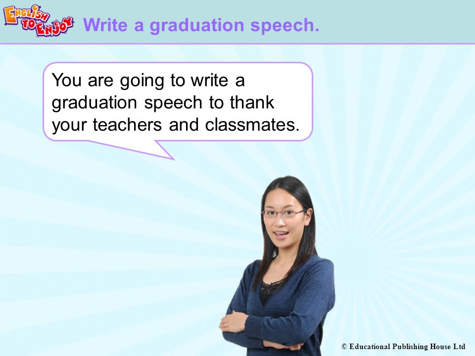 Write a graduation speech.