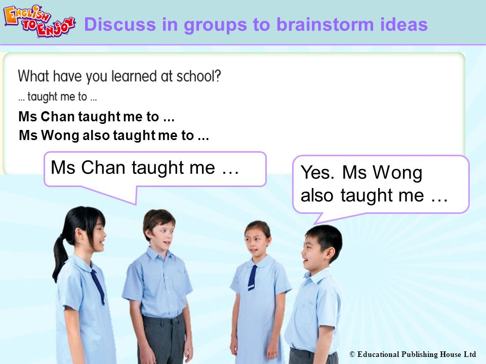 Discuss in groups to brainstorm ideas