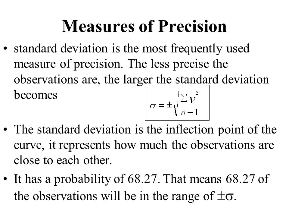 Measures of Precision