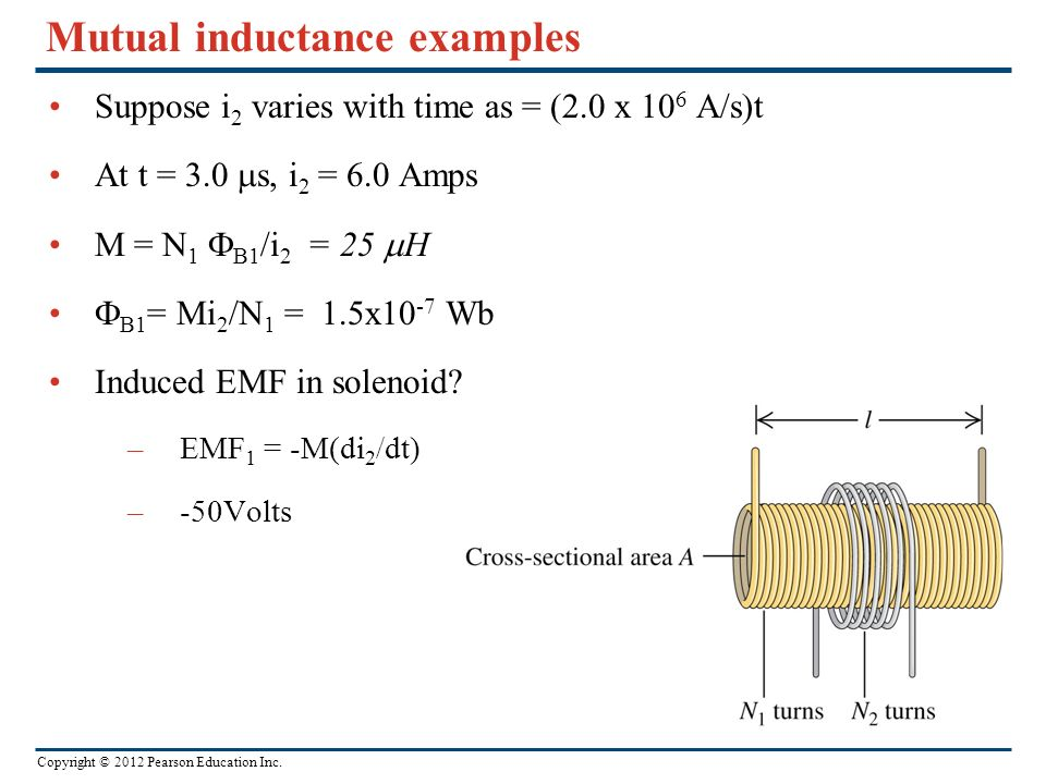 Mutual inductance examples