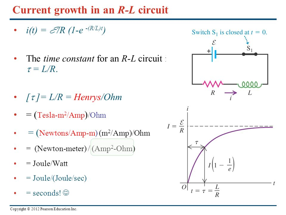 Current growth in an R-L circuit