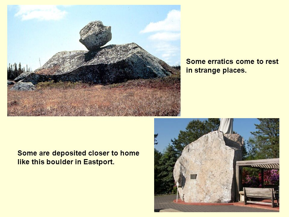 Some erratics come to rest