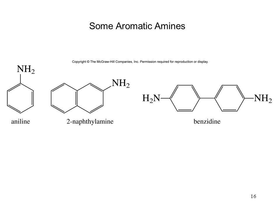 Some Aromatic Amines