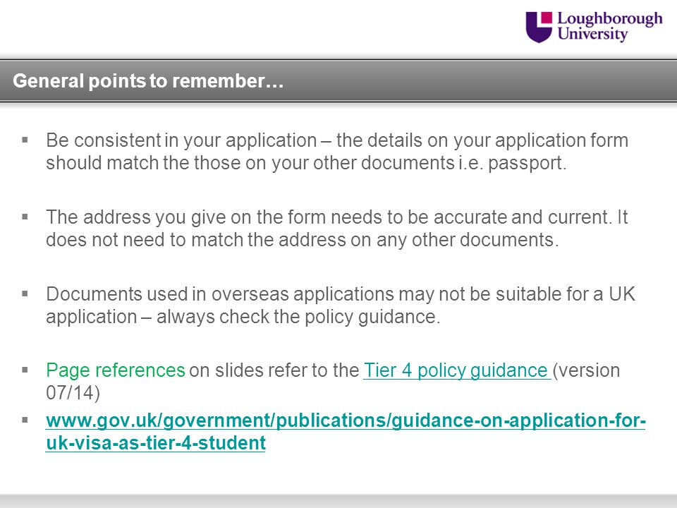 Making A Tier 4 General Student Application In The Uk Ppt Video Online Download