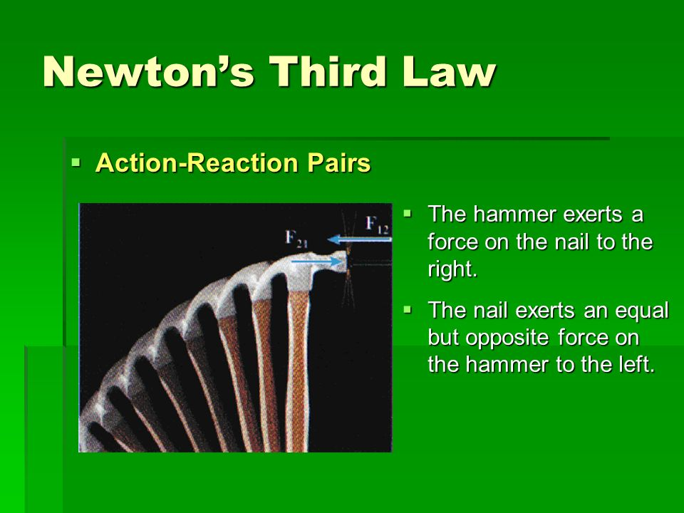 Newton's Third Law Action-Reaction Pairs