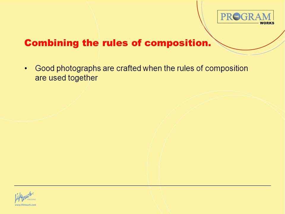 Combining the rules of composition.