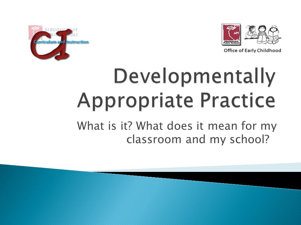 what does developmentally appropriate practice mean