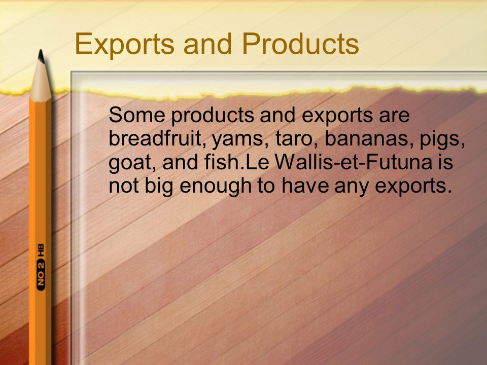 Exports and Products