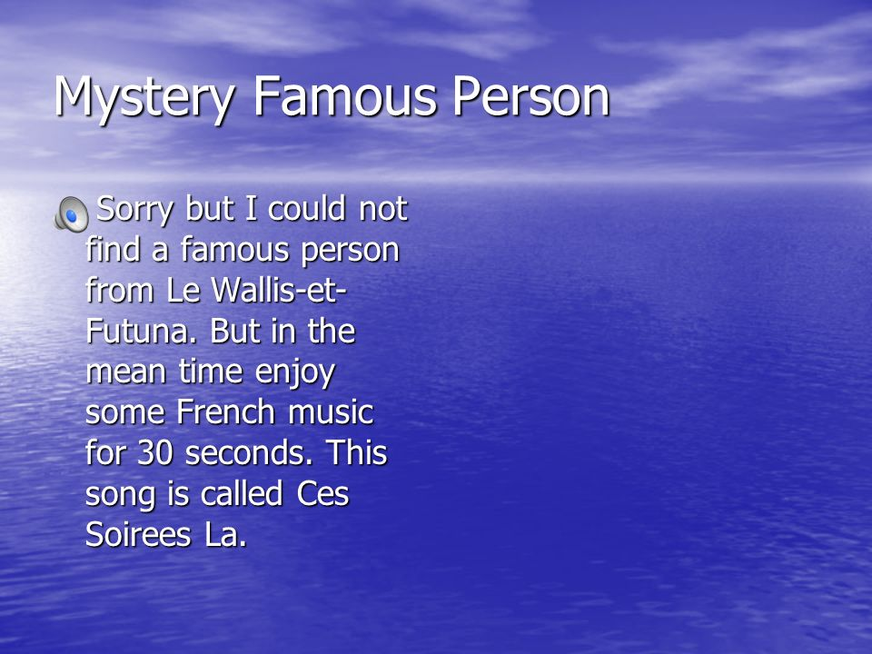 Mystery Famous Person