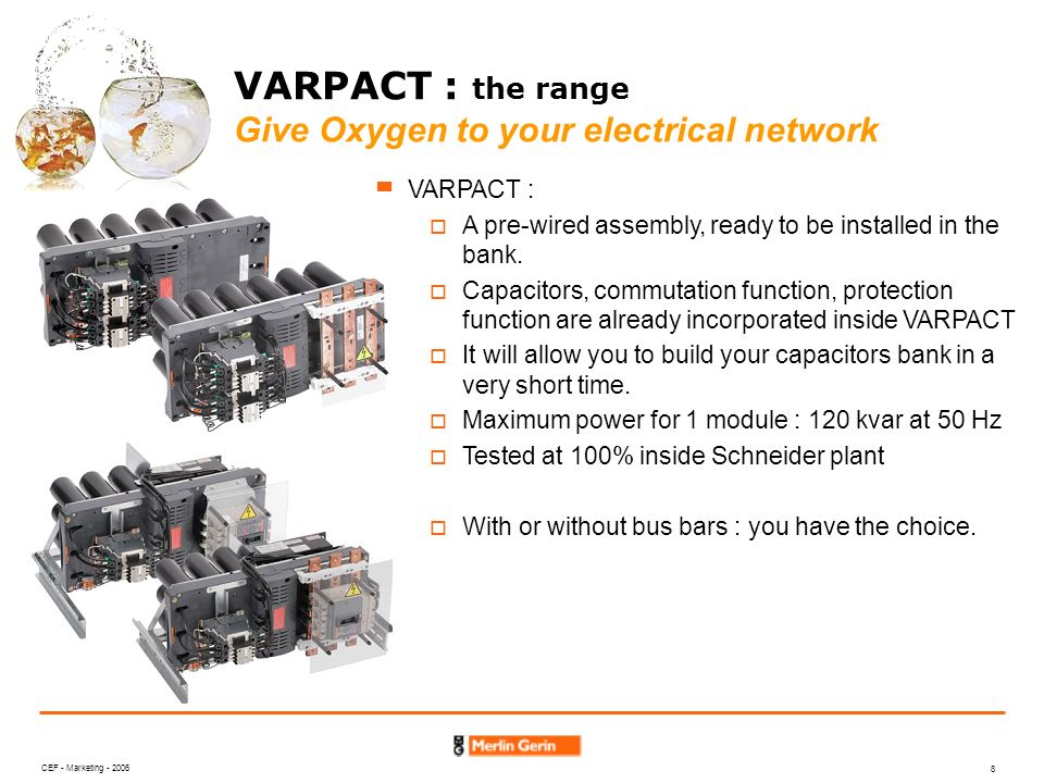VARPACT : the range Give Oxygen to your electrical network