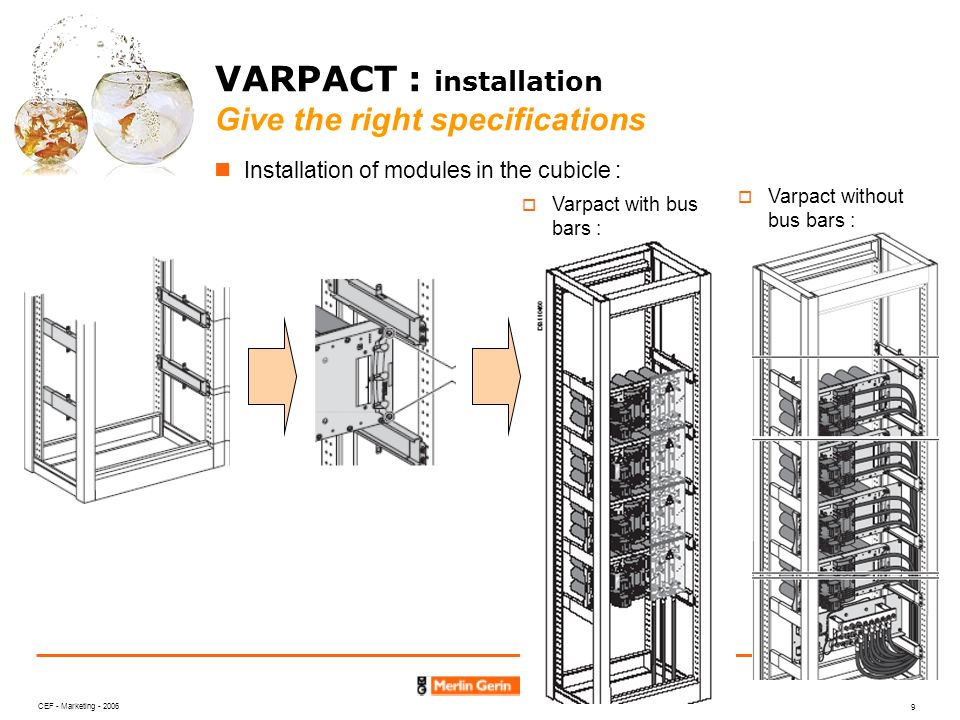 VARPACT : installation Give the right specifications