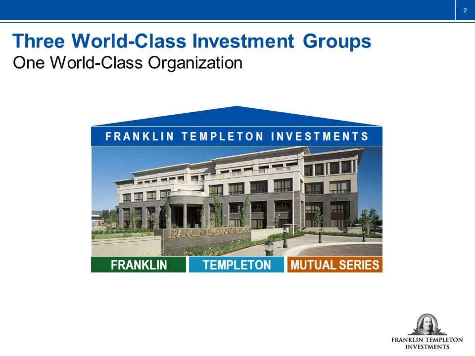 Three World-Class Investment Groups