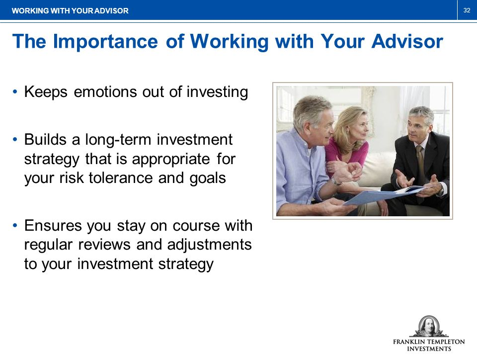 The Importance of Working with Your Advisor