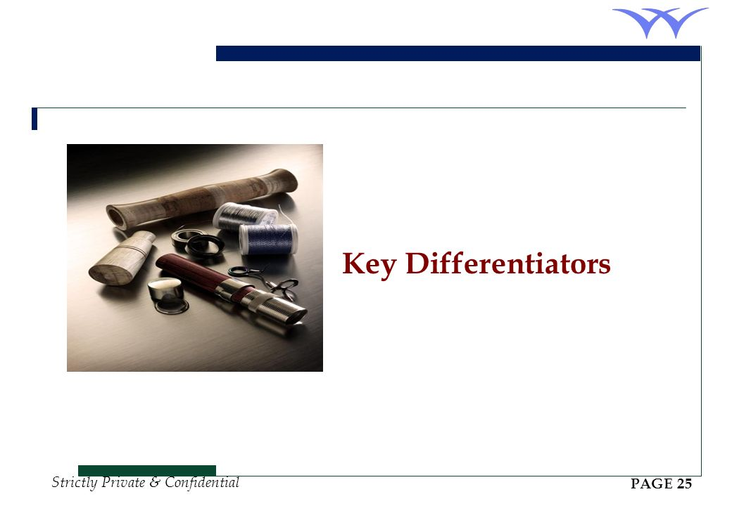 Key Differentiators PAGE 25