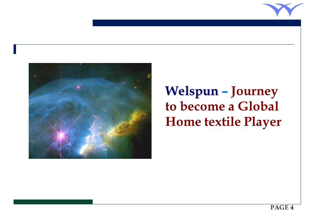 Welspun – Journey to become a Global Home textile Player