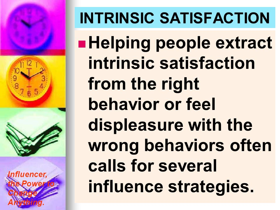 INTRINSIC SATISFACTION