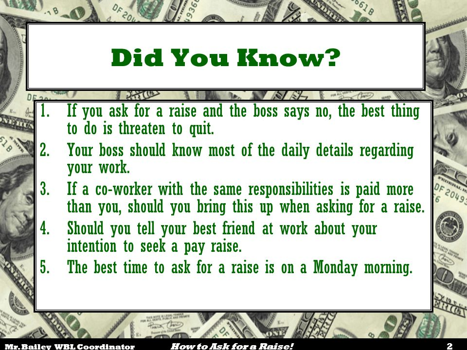 Show Me The Money How To Ask For A Raise Ppt Video Online Download