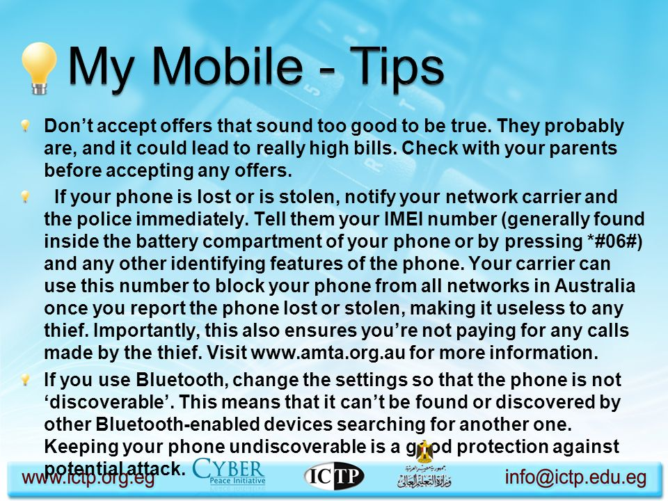 My Mobile - Tips