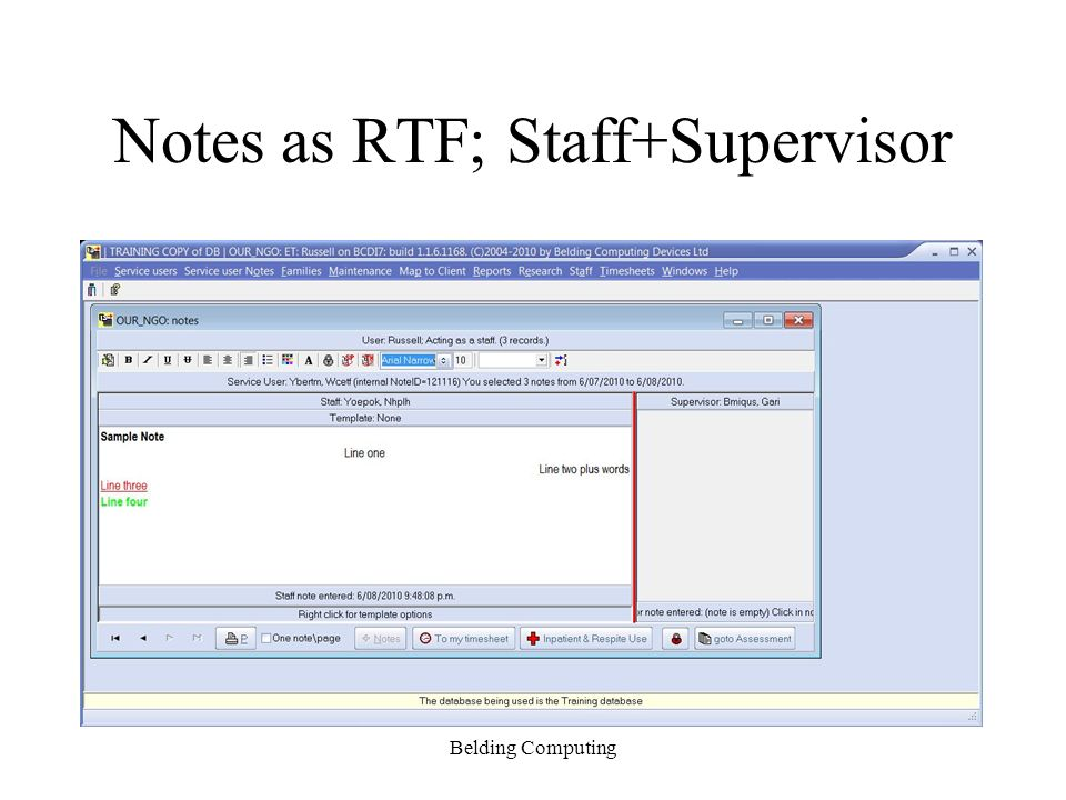 Notes as RTF; Staff+Supervisor