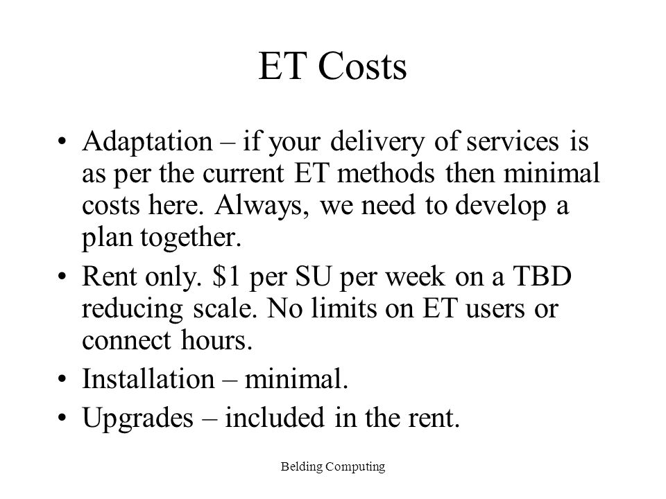 ET Costs