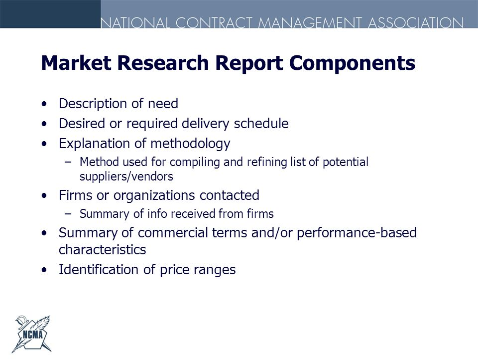 Market Research Report Components