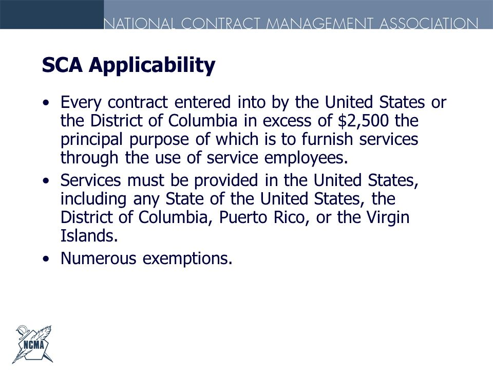 SCA Applicability