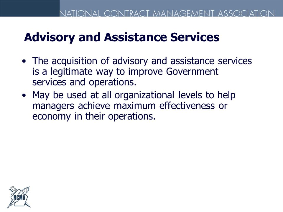 Advisory and Assistance Services