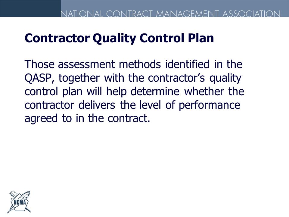 Contractor Quality Control Plan