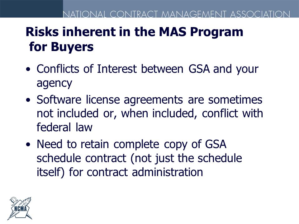 Risks inherent in the MAS Program for Buyers